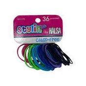 Halsa Kids' Assorted Styles Thin Clasp Free Elastics