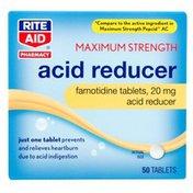 Rite Aid Pharmacy Acid Reducer, Maximum Strength, 20 mg, Tablets, 50 tablets