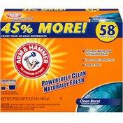 Arm & Hammer Clean Burst 58 Loads Powder Laundry Detergent