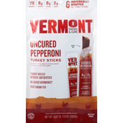 Vermont Creamery Turkey Sticks, Uncured Pepperoni
