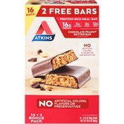 Atkins Chocolate Peanut Butter Protein-rich Meal Bars