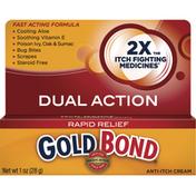 Gold Bond Anti-Itch Cream, Dual Action, Rapid Relief