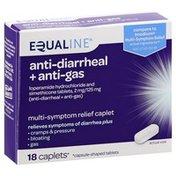 Equaline Anti-Diarrheal + Anti-Gas, Caplets