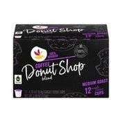 SB Medium Roast Single Serve Cups Coffee Donut Shop - 12 CT