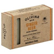 Olivina Bar Soap, Exfoliating, Ginger Beer