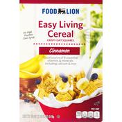 Food Lion Cereal, Cinnamon, Easy Living, Crispy Oat Squares