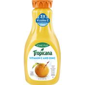 Tropicana 100% Juice, Orange, Some Pulp