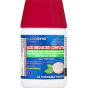CareOne Acid Reducer Complete, Chewable Tablets, Cool Mint Flavor
