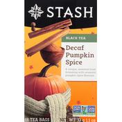 Stash Tea Black Tea, Pumpkin Spice, Decaf, Tea Bags