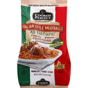 Cooked Perfect Meatballs, Italian Style, Dinner Size