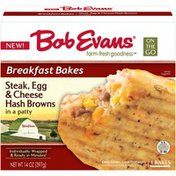 Bob Evans Steak/Egg/Cheese Hash Browns in a Patty Breakfast Bakes