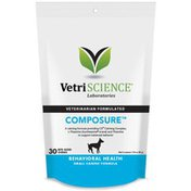 Vetri Science Composure Mini for Small Breeds, Calming Support Formula for Dogs Bite-Sized Chews