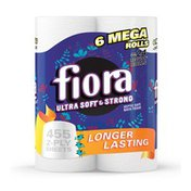 Fiora Bath Tissue, Ultra Soft & Strong, Unscented, Mega Rolls, 2-Ply