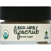 Eco Lips Lip Scrub, Brown Sugar