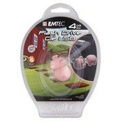 Emtec Flash Drive, 4 GB, Farm/Pig