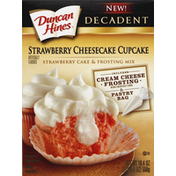 Duncan Hines Cake & Frosting Mix, Strawberry Cheesecake Cupcake