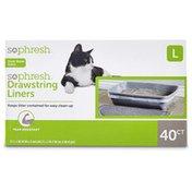 So Phresh Large Drawstring Cat Box Liners