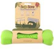 Beco Pets Natural Green Rubber Bone Hollow Chew Toy for Dogs