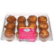 Sweet P's Moist And Delicious Apple Cinnamon & Cinnamon Bun Mini Muffins With A Bakery Cinnamon Streusel Topping