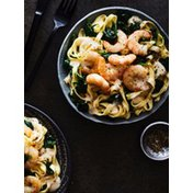 Broiled Shrimp with Fettuccini Alfredo Florentine