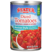 Stater Bros Mexican Style With Jalapeno Peppers & Spices Diced Tomatoes