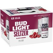 Bud Light Hard Seltzer Black Cherry, Gluten Free, Slim Cans