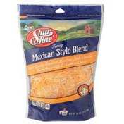 Shurfine Fancy Mexican Style Select Quality Shredded Monterey Jack, Cheddar, Queso Quesadilla & Asadero Cheese Blend