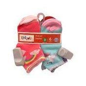 Kidgets 2-4 Toddler Girls Anklet Socks