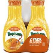 Tropicana 100% Juice Orange Juice No Pulp Original 59 Fl   Count Bottle
