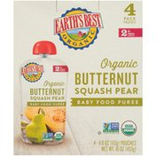 Earth's Best Stage 2 Butternut Squash Pear Organic Baby Food Puree