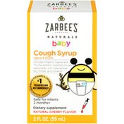 Zarbee's Naturals Baby Cough Syrup with Agave & Thyme, Natural Cherry