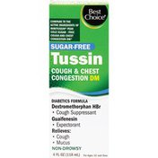 Best Choice Sugar-Free Tussin Cough & Chest Congestion Dm Syrup