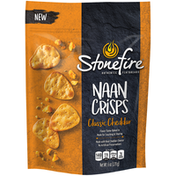 Stonefire Authentic Flatbreads Classic Cheddar Naan Crisps