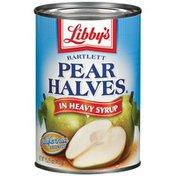 Libby's Bartlett In Heavy Syrup Pear Halves