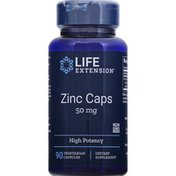 Life Extension Zinc Caps, 50 mg, Vegetarian Capsules