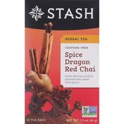 Stash Tea Herbal Tea, Caffeine-Free, Spice Dragon Red Chai, Tea Bags