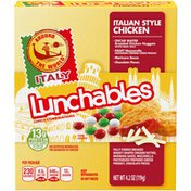 Lunchables Around The World Italian Style Chicken Meal Kit with Chicken Nuggets, Mozzarella, Marinara Sauce & Chocolate Pieces