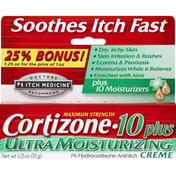 Cortizone 10 Anti-Itch Creme, Ultra Moisturizing, Maximum Strength