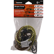 Keeper Bungee Cords, 6 Pack