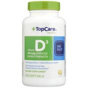 TopCare Super Strength Vitamin D3 50 Mcg (2000 Iu) May Support Bone, Teeth & Muscle Health Dietary Supplement Softgels
