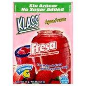 Klass Drink Mix, Strawberry Flavored