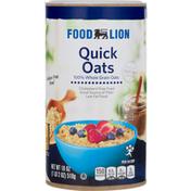 Food Lion Quick Oats, 100% Whole Grain