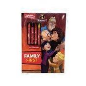 Parragon Inc. Disney Pixar Incredibles 2 Family First Color & Activity Book With Crayons