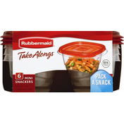 Rubbermaid Containers + Lids, Mini Snackers, 0.5 Cup