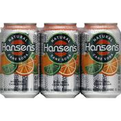 Hansen's Soda, Natural Cane, Mandarin Lime