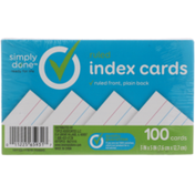 Simply Done Ruled Index Cards