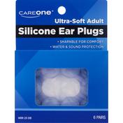 CareOne Ear Plugs, Silicone, Ultra-Soft Adult