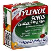 Tylenol Sinus Congestion & Pain, Daytime, Rapid Release Gelcaps