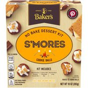 Baker'S S'mores Cookie Balls No Bake Dessert Kit with Graham Crumb Mix, Chocolate Bar & Marshmallow Icing