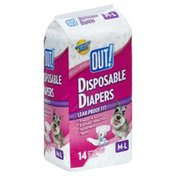 Out Diapers, Disposable, M-L (25-60 Pounds)